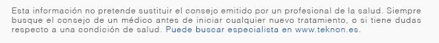 Consulte www.Teknon.es